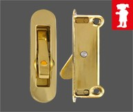 Mighton Angel Ventlock Side Fix Polished Brass